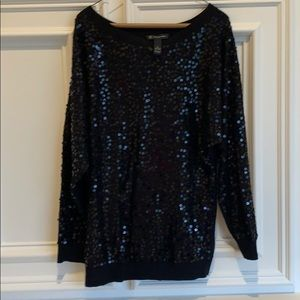 Beautiful black sequin sweater from Inc